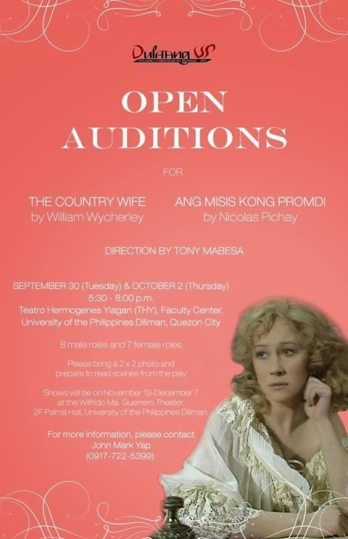 Auditions-Country Wife